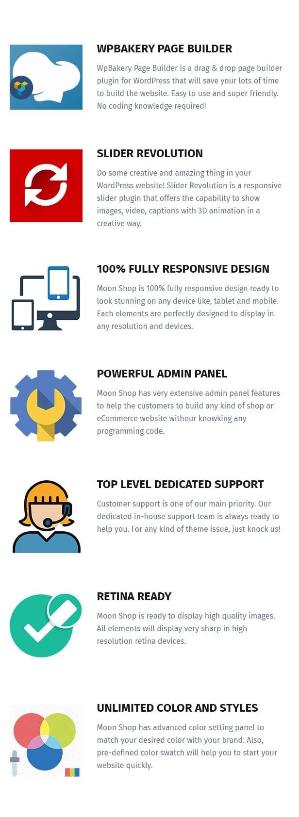 Moon Shop - Thème WordPress de commerce électronique réactif pour WooCommerce - 12