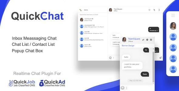 Plugin de messagerie de chat AJAX en temps réel QuickChat