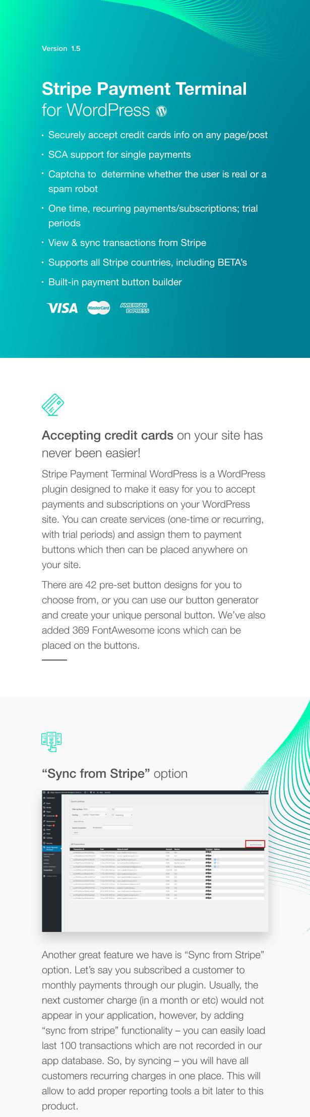 Terminal de paiement Stripe WordPress - 1