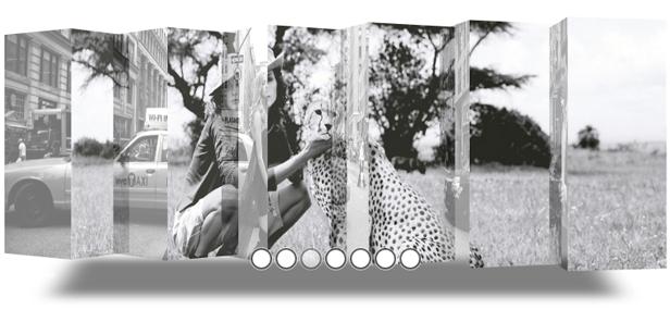 Transition du mode curseur de la galerie de photos intelligente par défaut