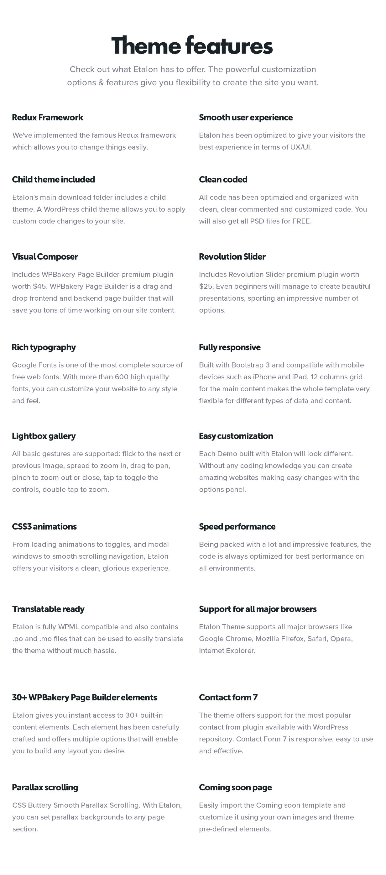 Etalon - Thème multi-concept pour les services professionnels - 2
