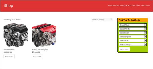 Plugin de moteur et de filtre à carburant WooCommerce - 10