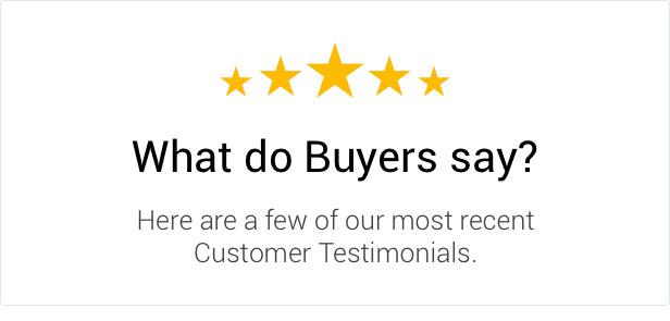 Veuillez jeter un œil à ce que les acheteurs disent de notre travail de qualité et de notre soutien