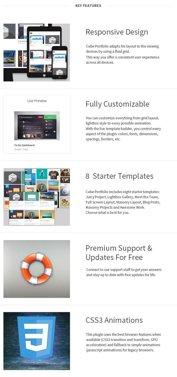Cube Portfolio - Plugin de grille WordPress réactif - 4