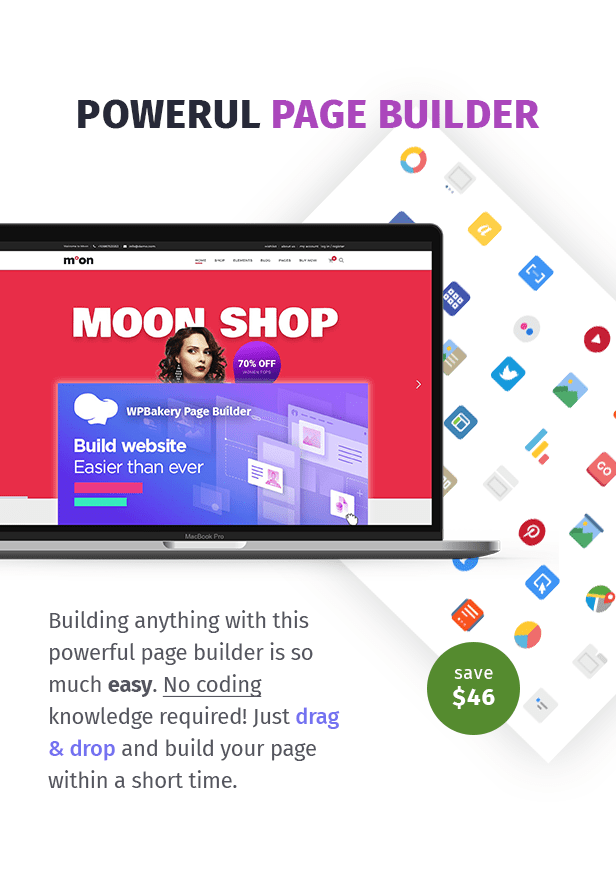 Moon Shop - Thème WordPress de commerce électronique réactif pour WooCommerce - 7