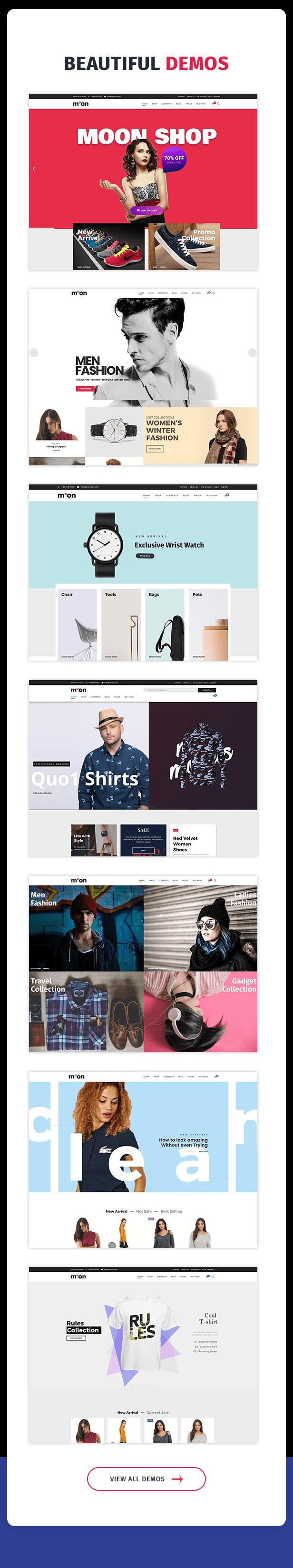 Moon Shop - Thème WordPress de commerce électronique réactif pour WooCommerce - 9