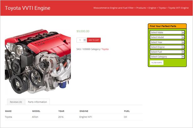 Plugin de moteur et de filtre à carburant WooCommerce - 12