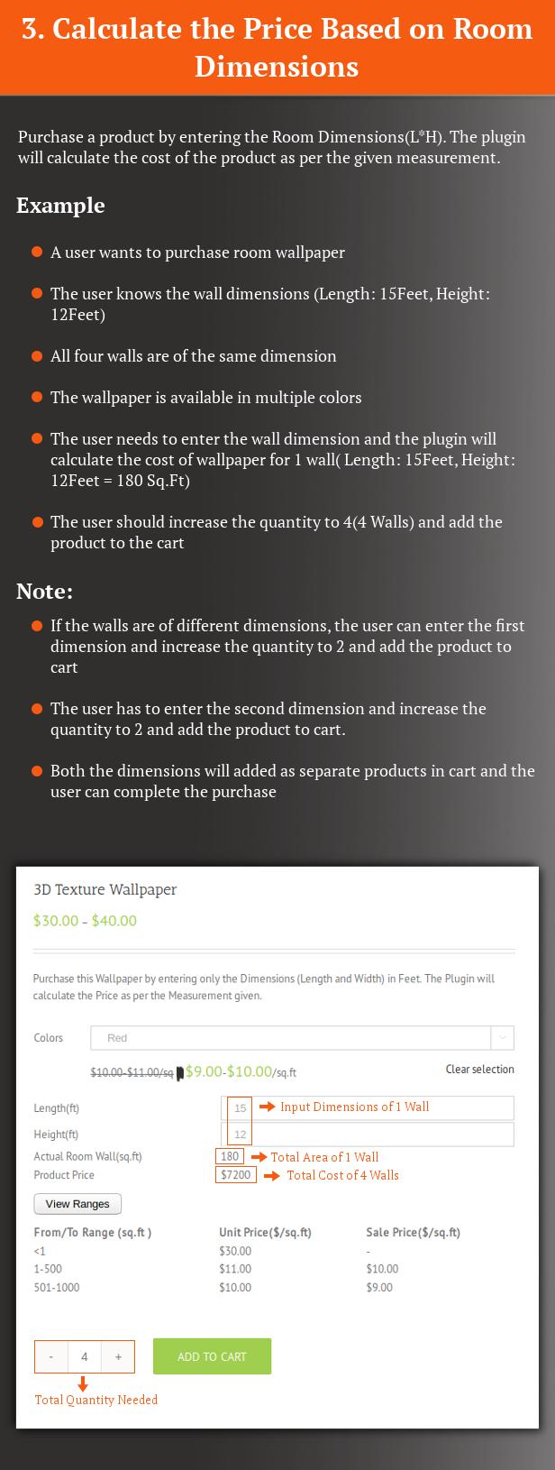 Calculateur de prix de mesure SUMO WooCommerce - 5