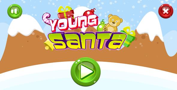 Jeune père Noël - jeu HTML5.  Construire 2 (.capx) + mobile + classement - 10