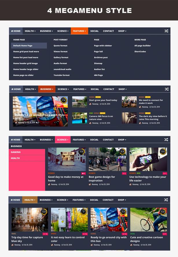 NanoMag - Thème de magazine WordPress réactif - 4