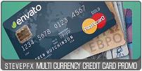 Promo de carte de crédit multi-devises