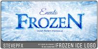 Logo de glace glacée