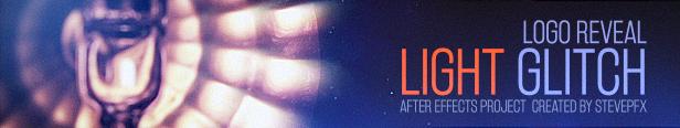 Le logo révèle des modèles de titre de glitch léger après effets