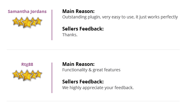Commentaires des clients et des clients WordPress Woo Commerce Notifications SMS Plugin Plugin Review