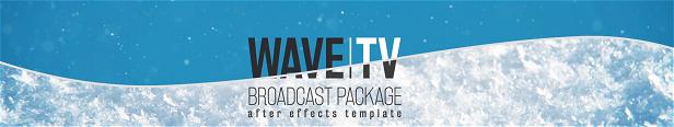 Modèles After Effects Package de diffusion Wave