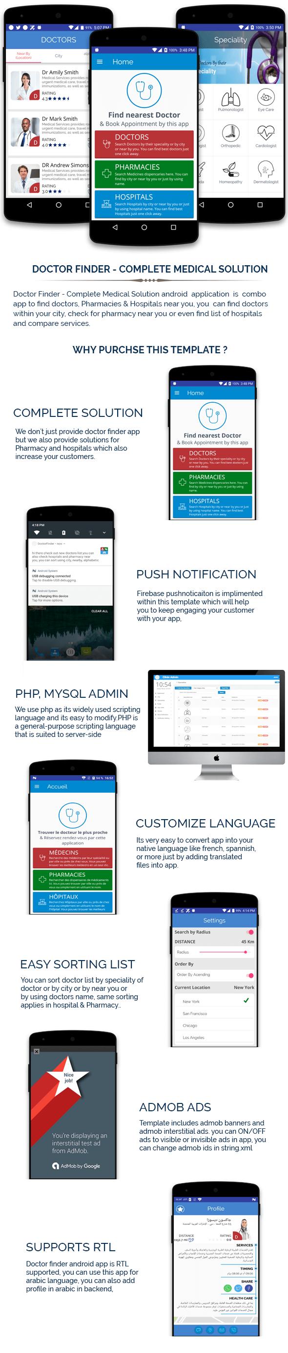 Doctor Finder - Application Android de solution médicale complète - 1