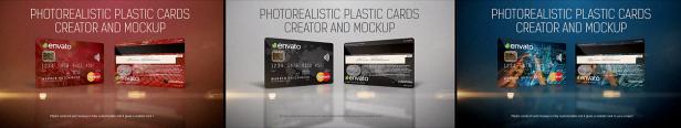 Créateur et maquette de cartes en plastique