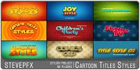 Styles de titres de dessins animés