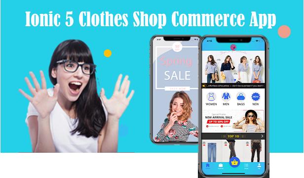Application de commerce de magasin de vêtements Ionic 5 / Angular 8