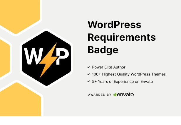 Badge des exigences WordPress