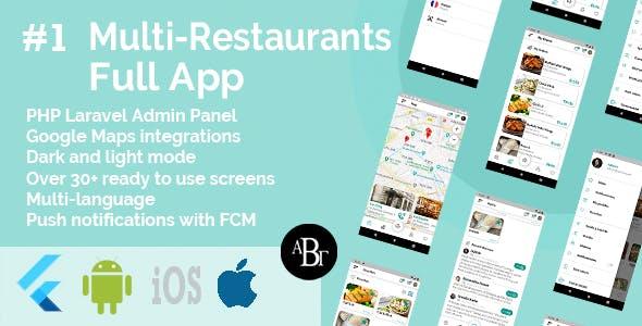 Kit d'interface utilisateur de livraison de nourriture dans Flutter - 3 applications - Application client + application de livraison + application propriétaire - 13