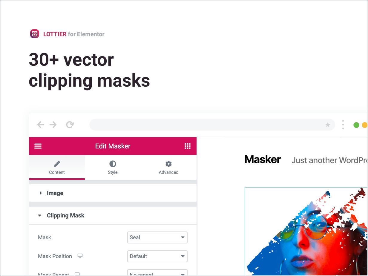 30+ masques d'écrêtage vectoriel