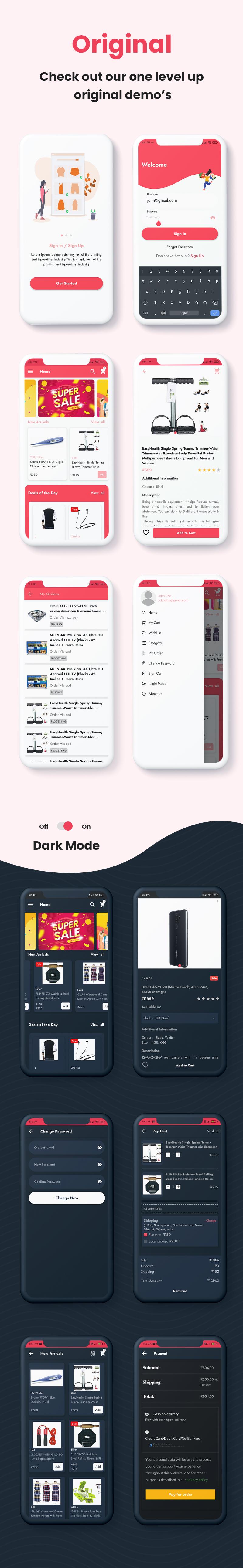 ProShop - WooCommerce Multipurpose Single and Multi-Vendor E-commerce Flutter Full Mobile App - 24
