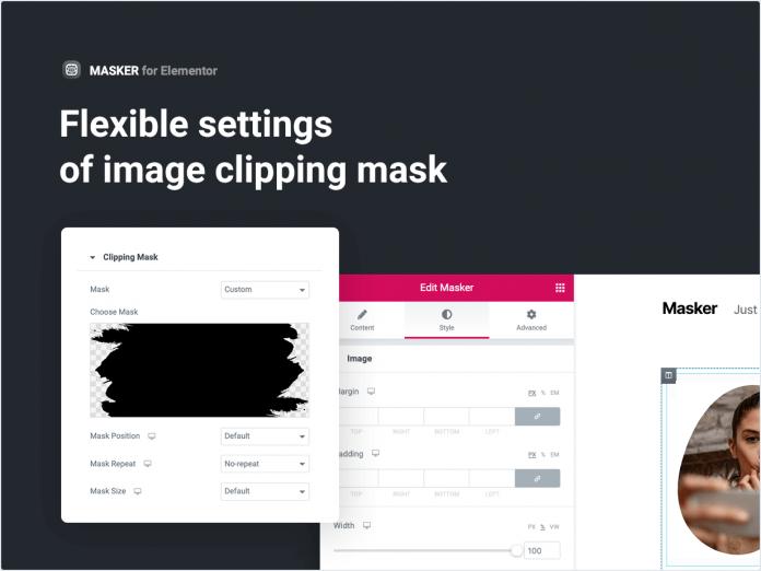 Paramètres flexibles du masque d'écrêtage d'image