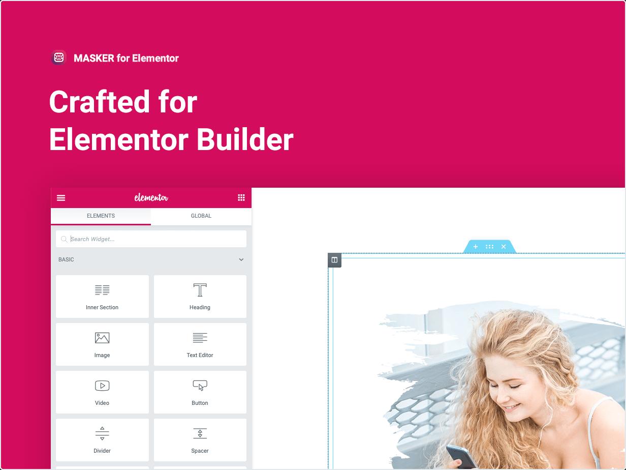 Conçu pour Elementor Builder