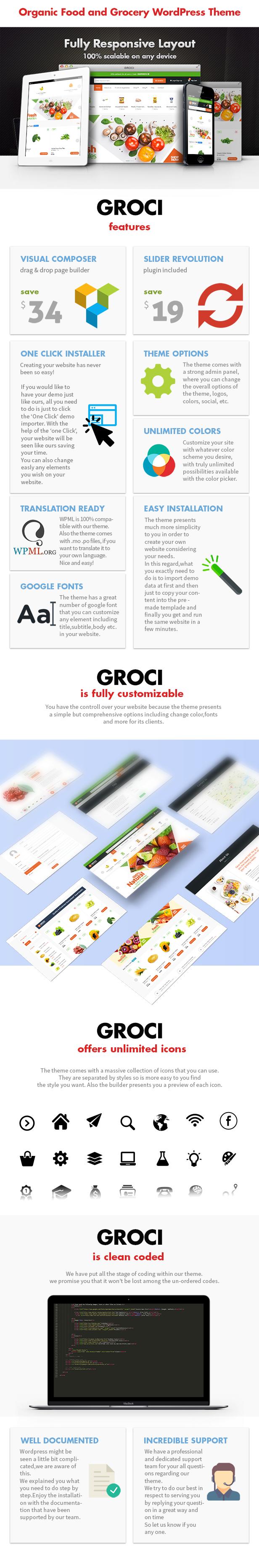 Groci - Thème WordPress du marché des aliments biologiques et des épiceries - 3