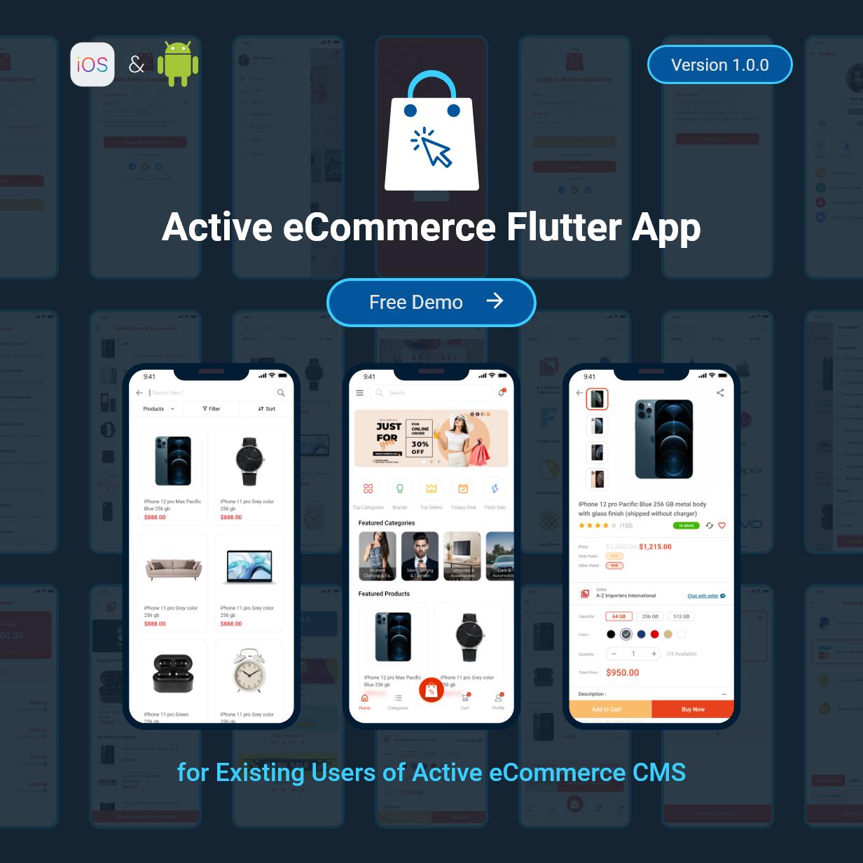 Application Flutter de commerce électronique active - 2