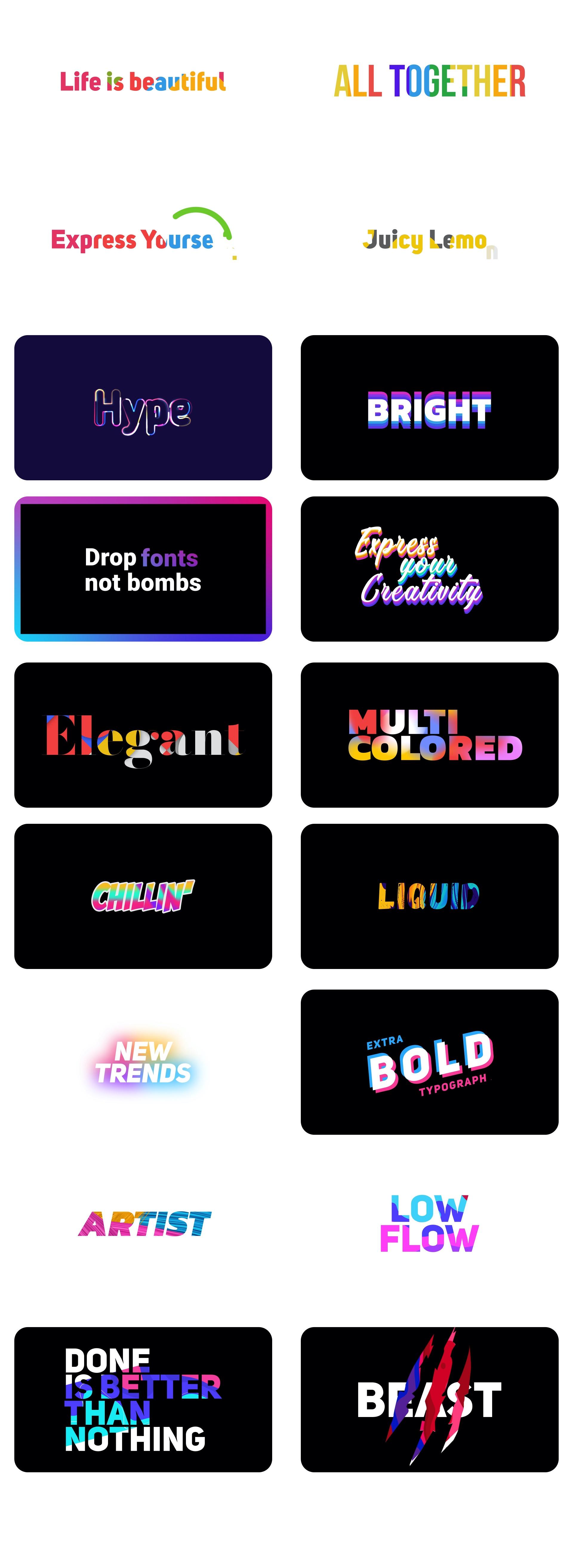 Titres de couleur - 4