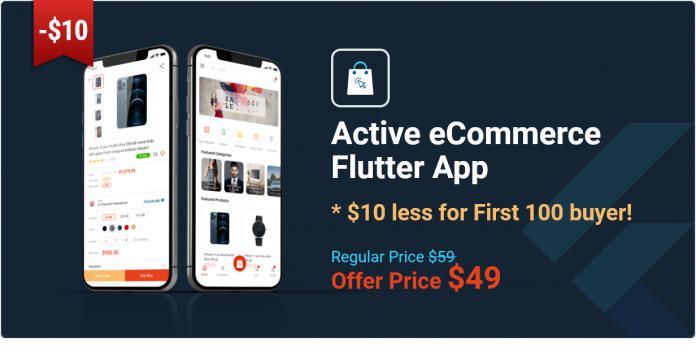 Application Flutter de commerce électronique active - 1