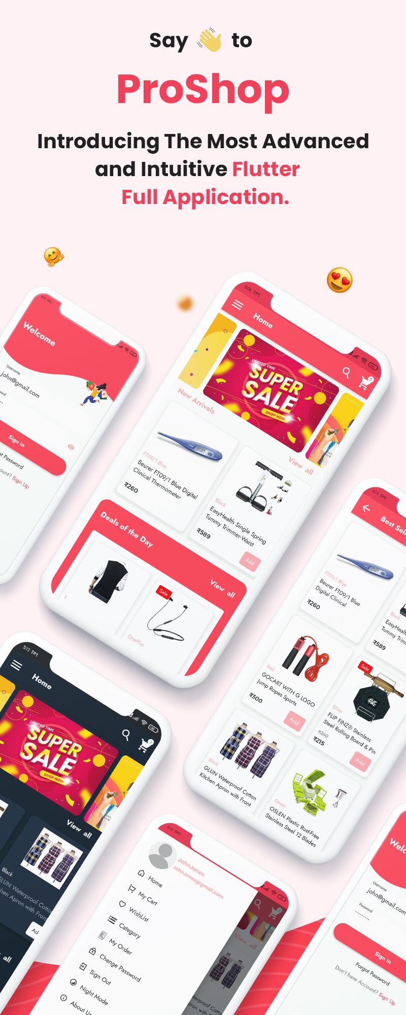ProShop - WooCommerce Multipurpose Single and Multi-Vendor E-commerce Flutter Full Mobile App - 6