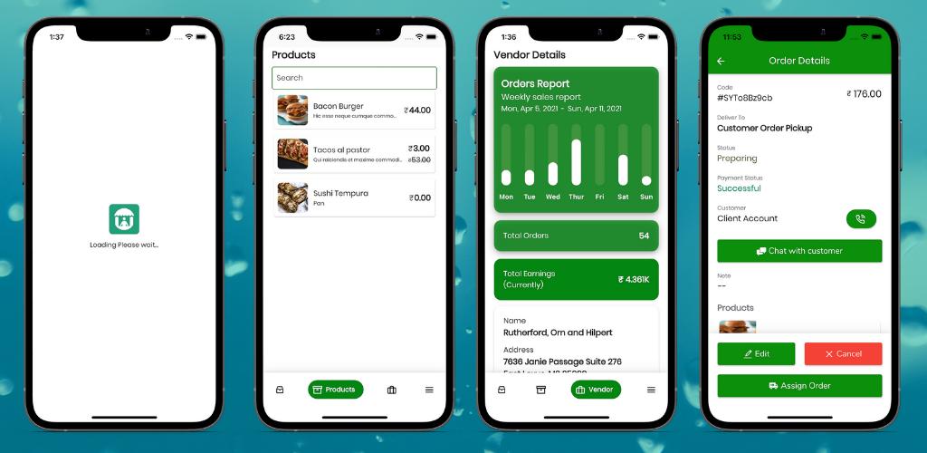Fuodz - Application de livraison de courrier d'épicerie, de nourriture, de pharmacie + Backend + Application Driver & Vendor - 4