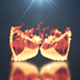 effet de feu d'ailes avec le joli reflet au sol