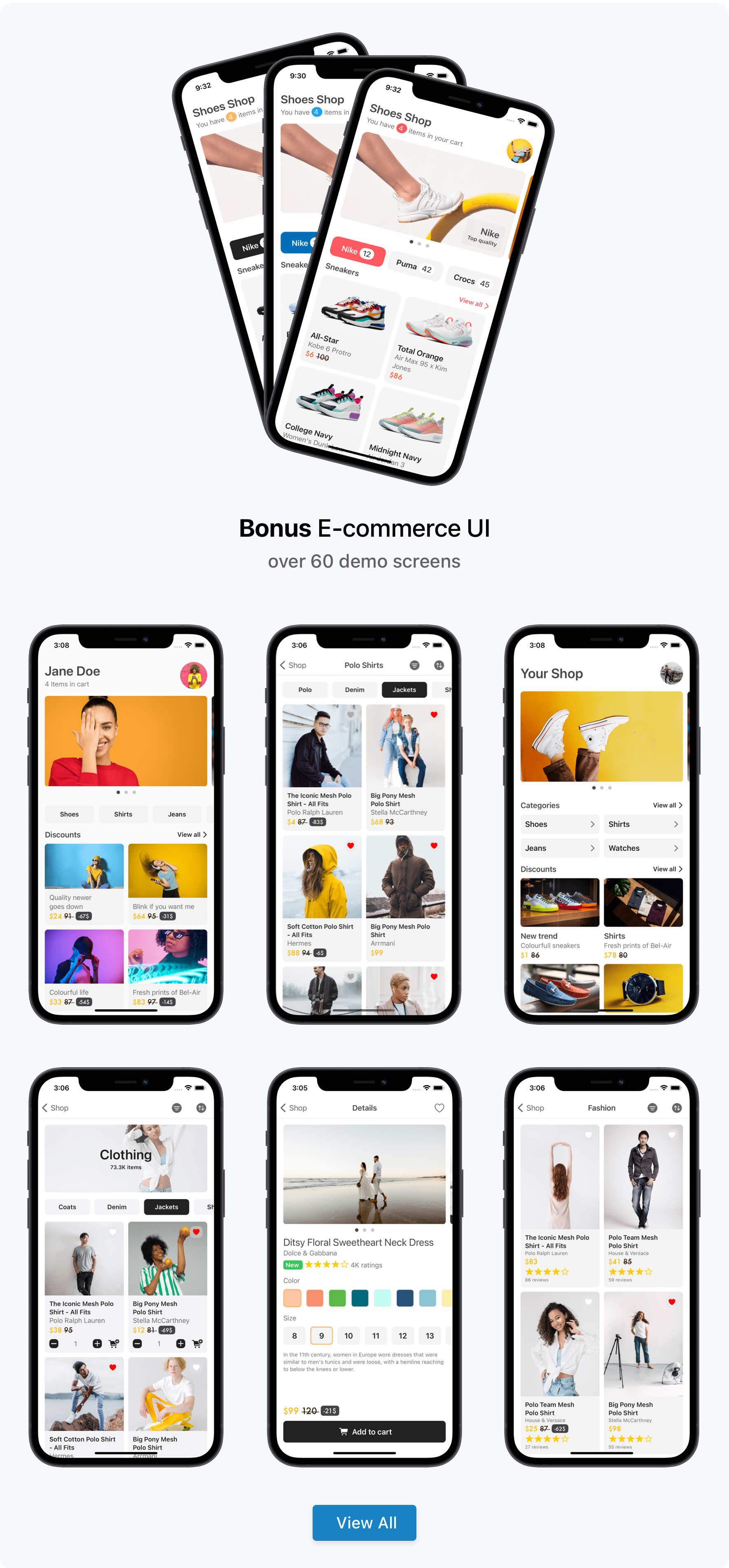 ios ui / ux, commerce électronique